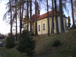 Castle Homes and a glorious small church in my home village Biernacice, Poland.jpg