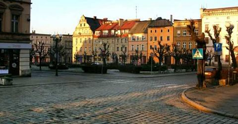 Castle Homes: Ziebice Town Square where train station still remains since I left Poland to head for the Baltic Sea to board the ship Batory.jpg